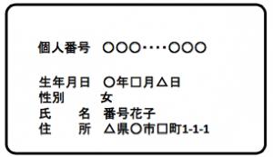 通知カード(案)